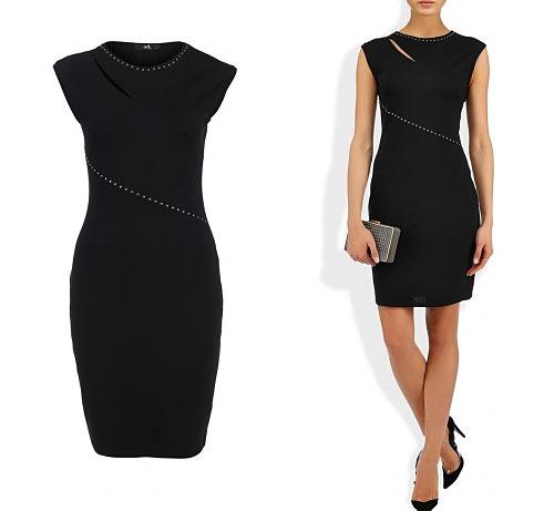 Черное платье в офис фото