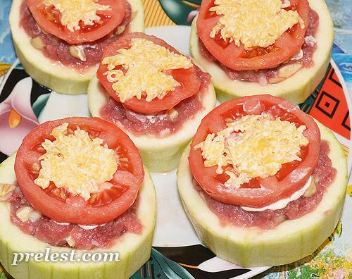 кабачок помидор фарш рецепт в духовке