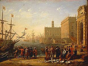 колумб, америка, корабль, люди, порт