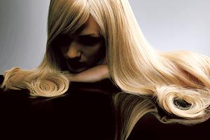 девушка, волосы, укладка, блондинка