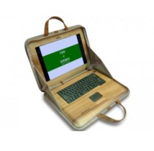 Деревянный ноутбук.
