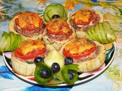 Фаршированный кабачок с мясом в духовке рецепт с фото