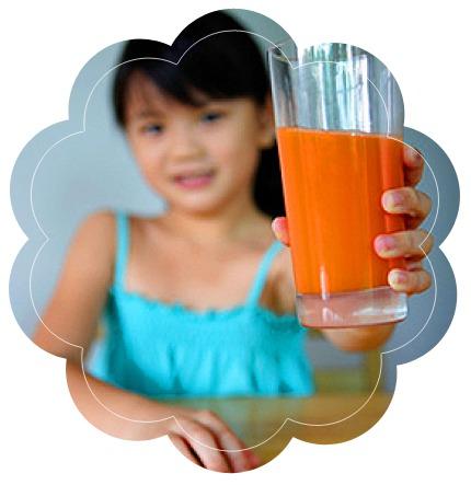 сок, девочка, стакан
