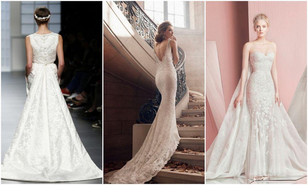 Свадебное платье узкое с кружевами