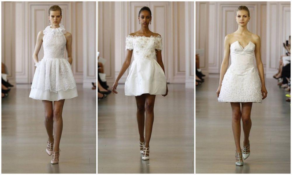 короткое свадебное платье фото 2016
