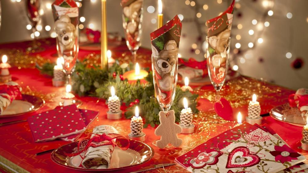 украшение и новогоднего стола