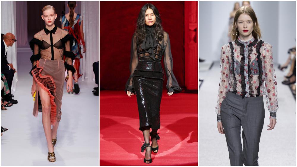 Мы уже упоминали о том, что блузы из прозрачной ткани будут на пике  популярности. Познакомимся ближе с предложенными моделями. Эффектные блузки  для женщин ... 9a9fd5d5440