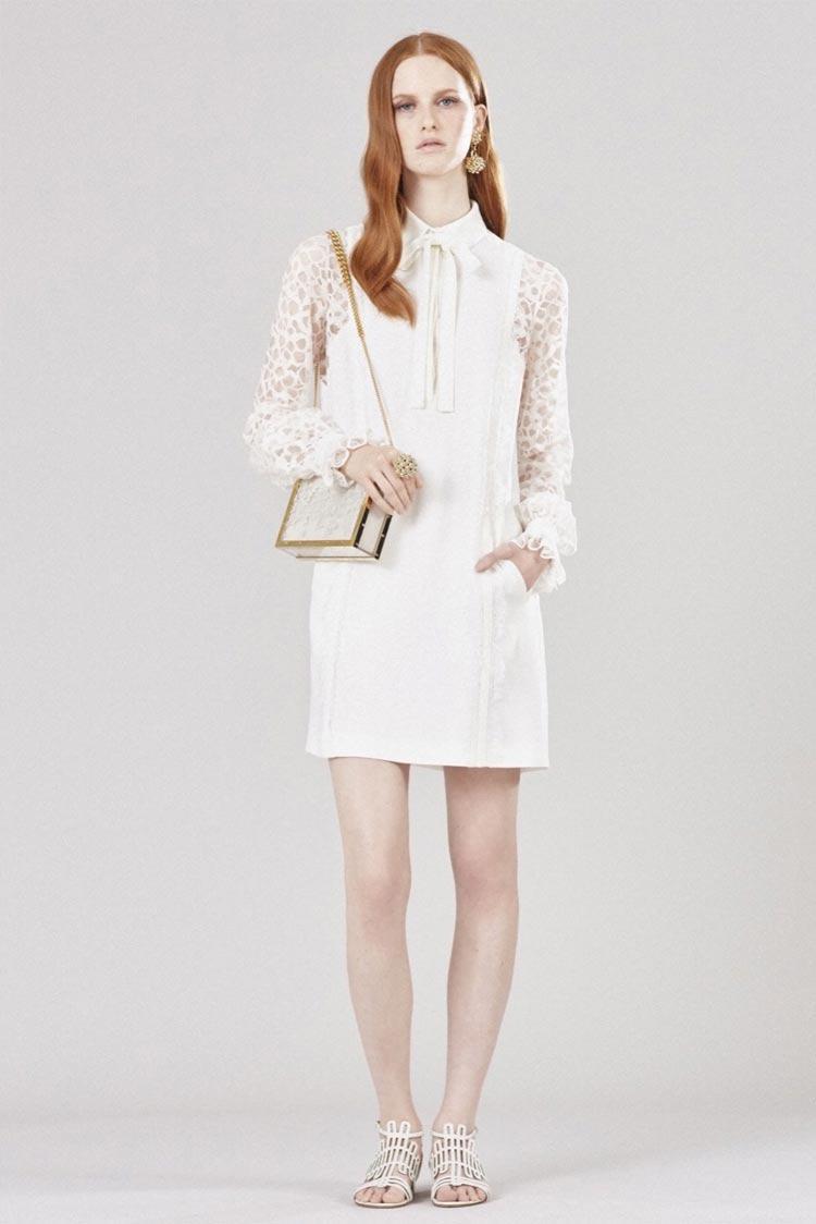 Платье из белого мешка