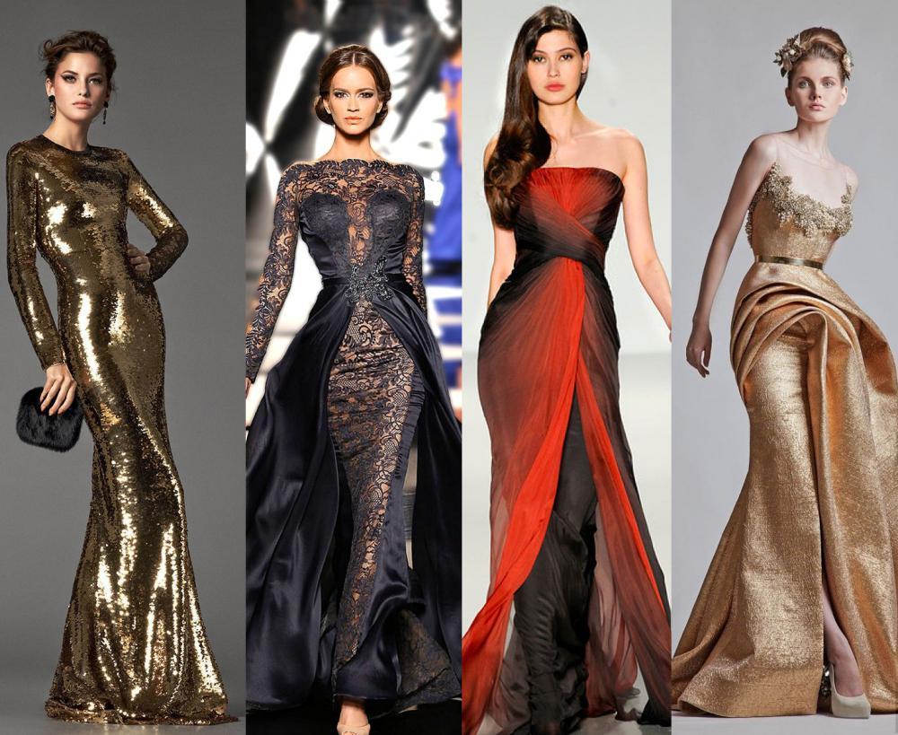 фасоны новогодних платьев 2017