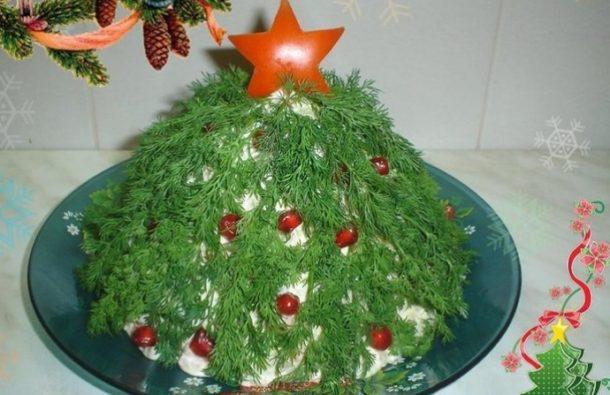 рецепты салатов на стол на новый год