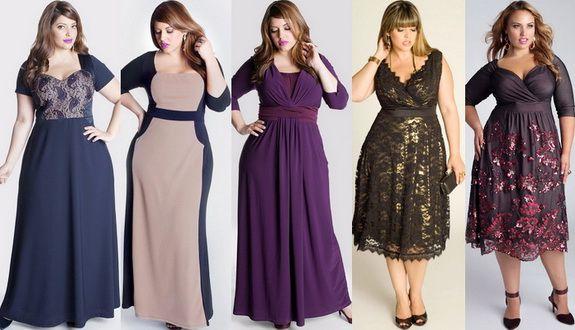 Какие платье идут полным