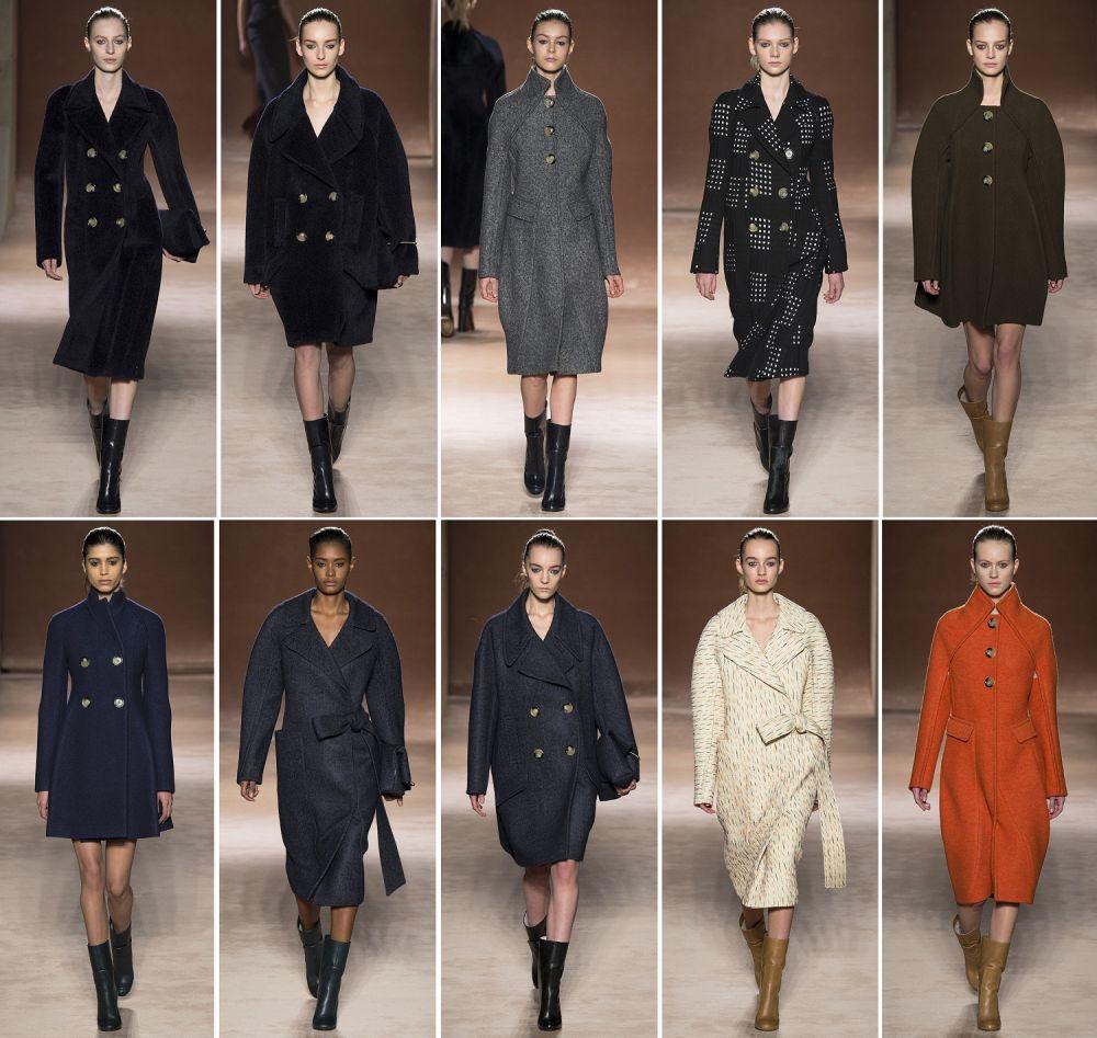 Модные показы пальто с мехом 46