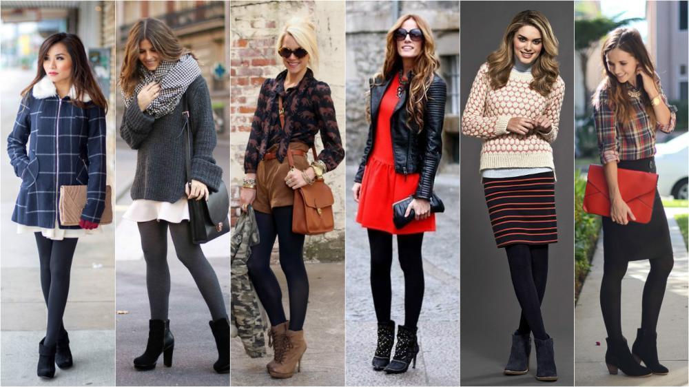 Что можно носить с ботинками осенью