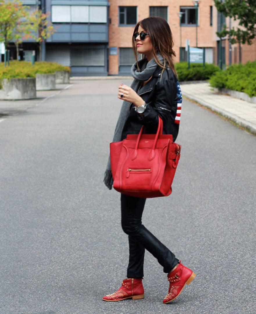 Красные ботинки с чем носить