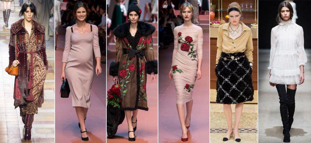 Цвет юбки для зимы