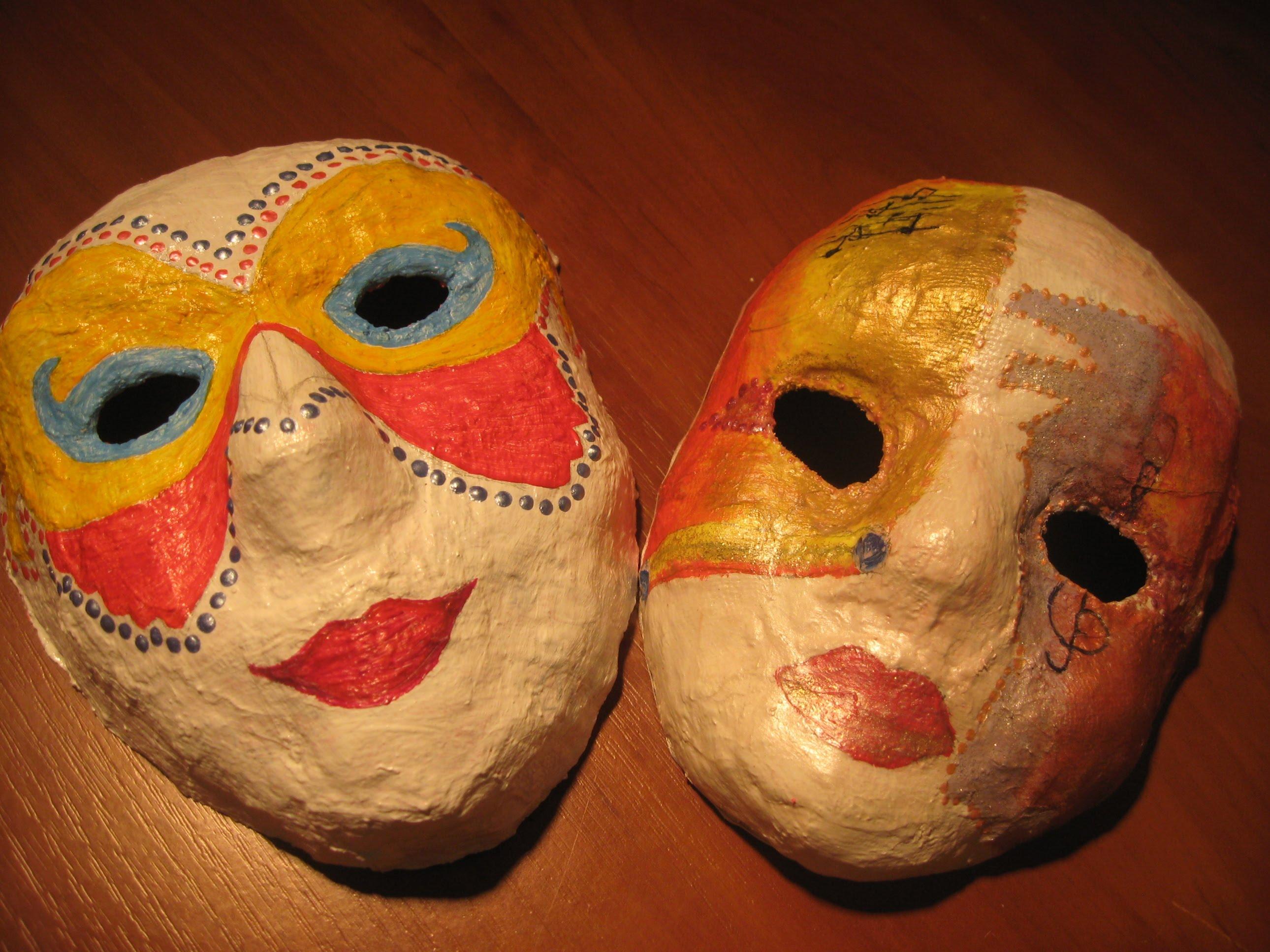 Как сделать маску из папье маше своими руками