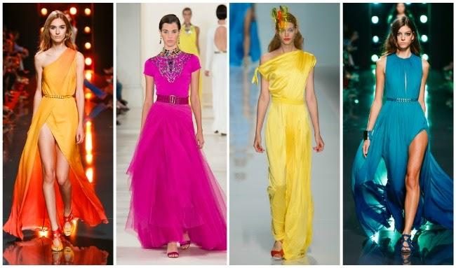 Яркие коктейльные платья