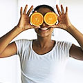 маска из апельсинов