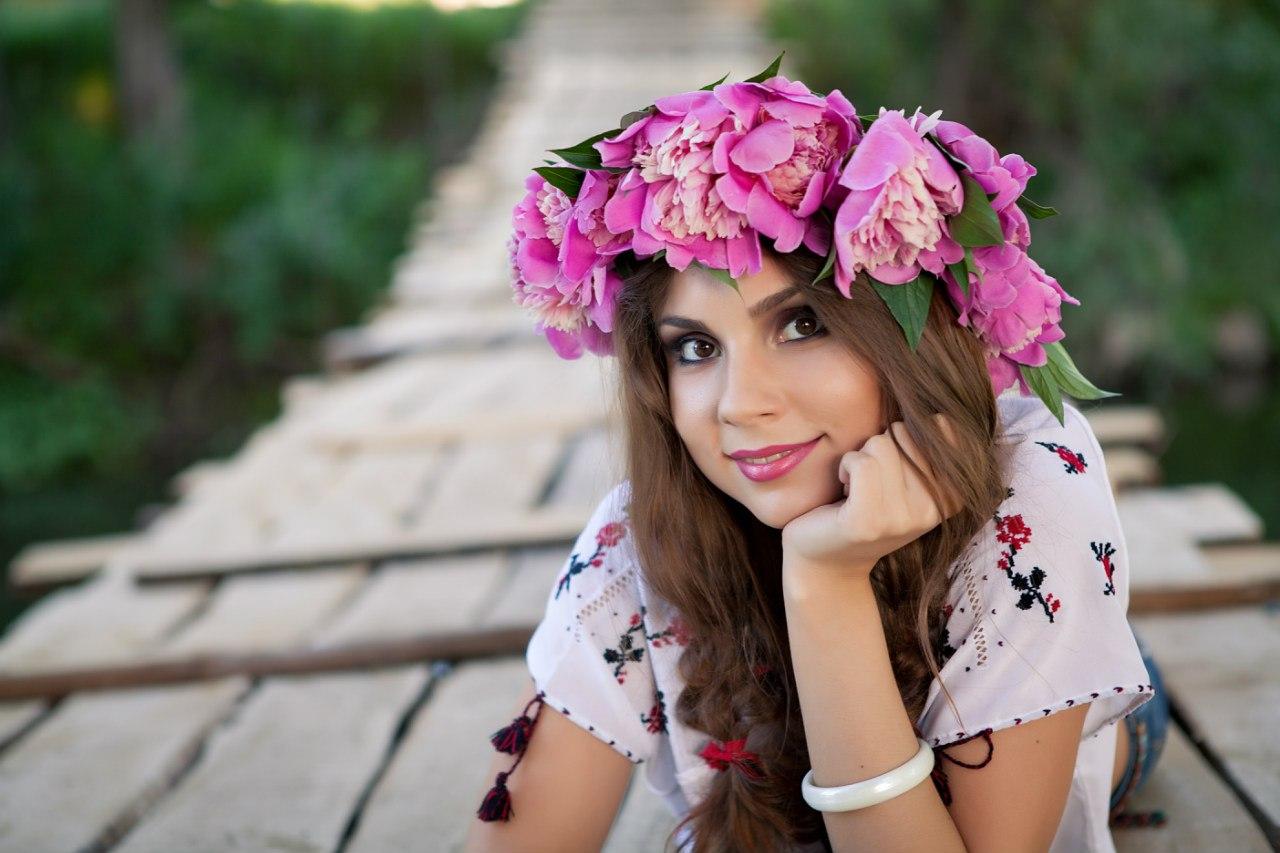 Цветочный макияж для фотосессии