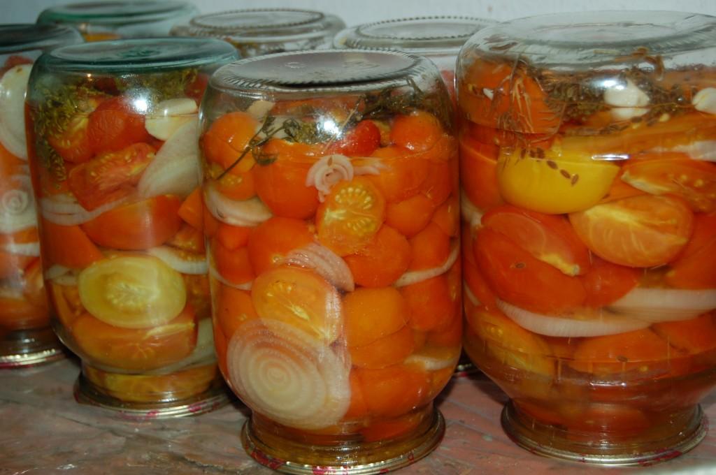 помидоры на зиму половинками рецепты
