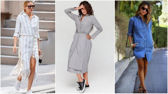 3b59f53bd90 Платья-рубашки. модные тенденции осень-зима 2018-2019