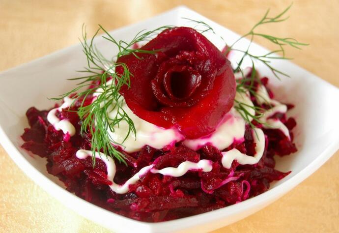 свекольный салат грация