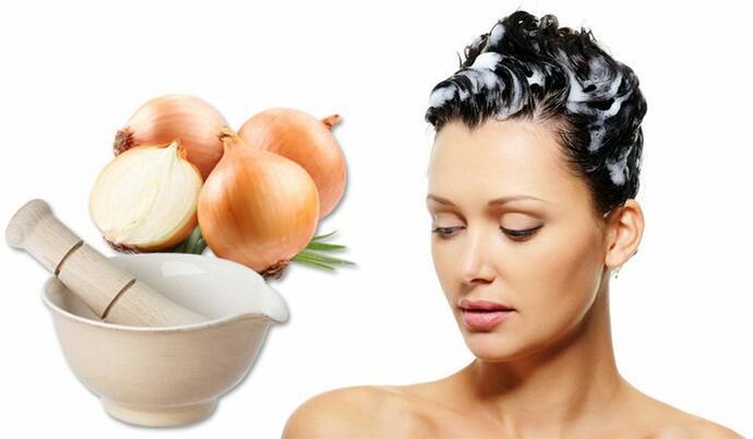питательное луковое средство для волос