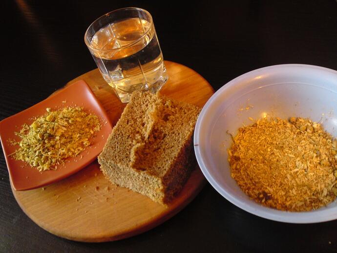 ржаной хлеб для приготовления маски