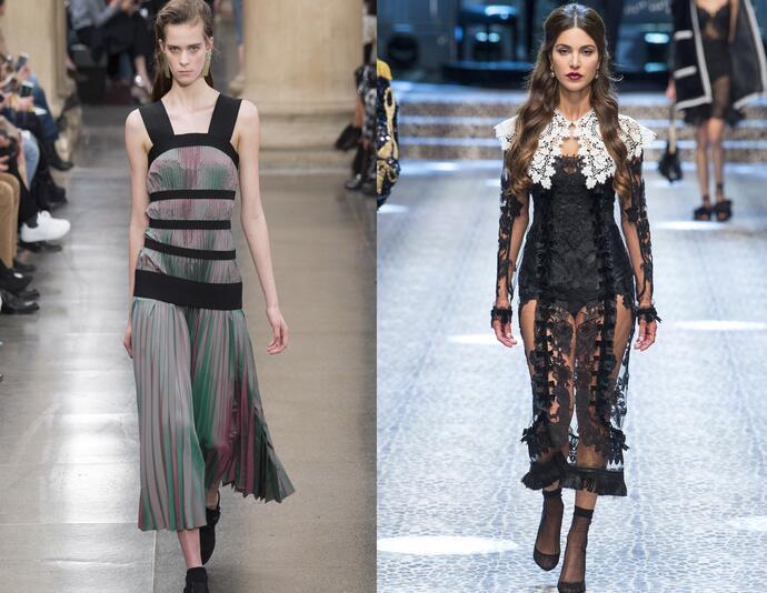 Контраст в платьях