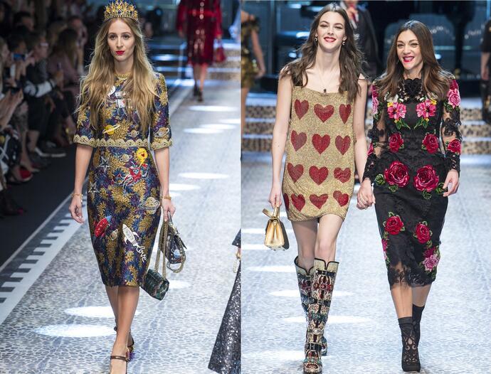 рукава с узорами на новогодних платьях