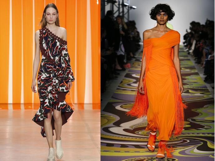 асимметрия в платьях
