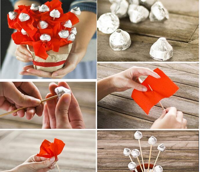 пошаговая упаковка конфет
