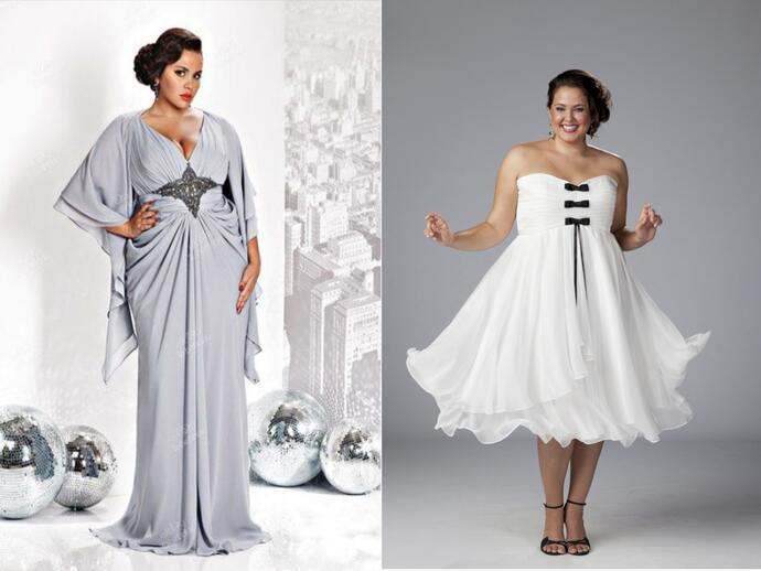 Платья для женщин с размером Plus-Size