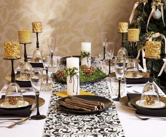 Как украсить стол на Новый год