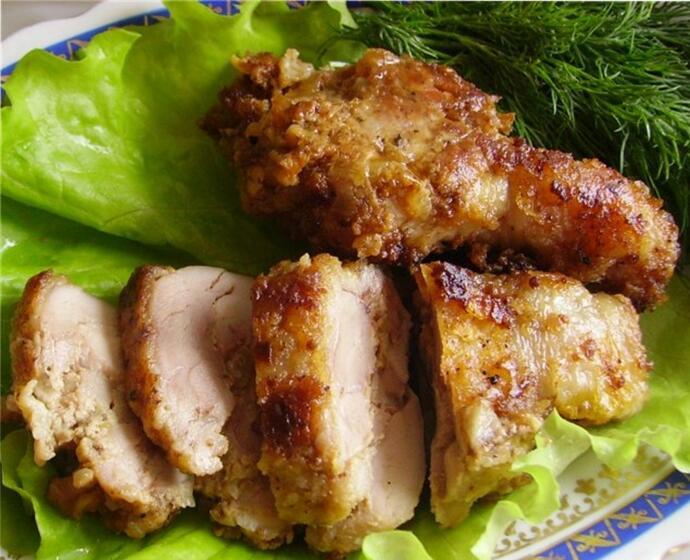 Голени из курицы с бруснично-ореховым фаршем