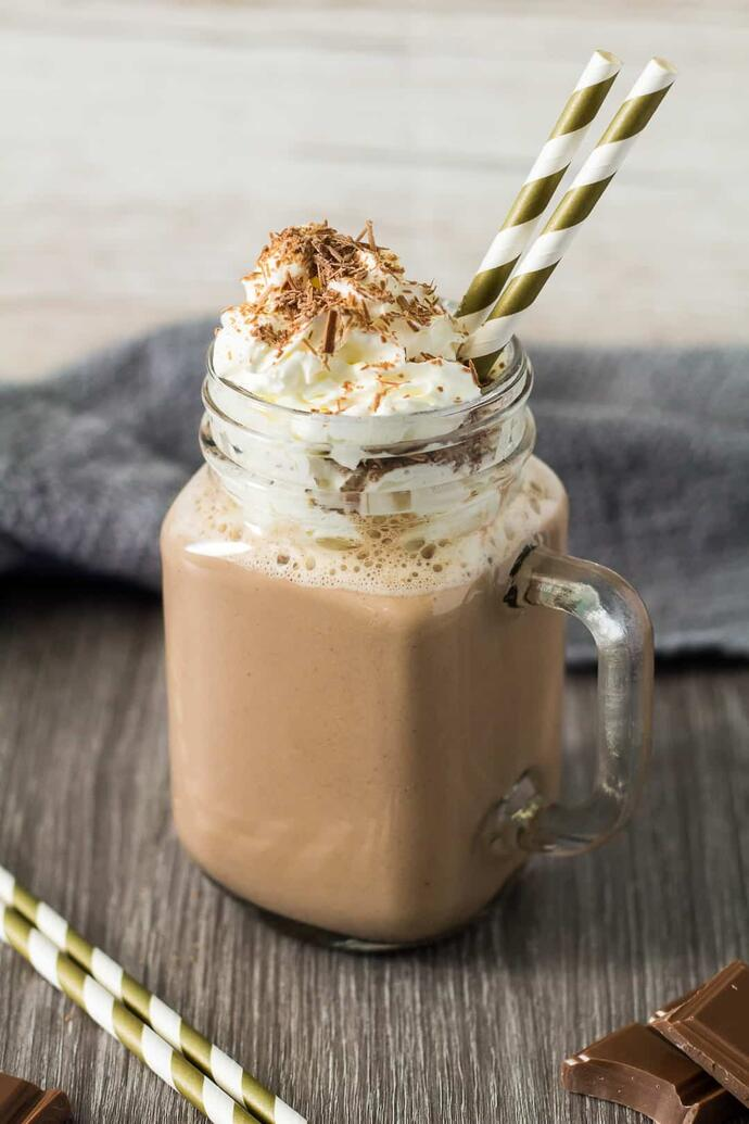Горячий шоколад с ореховым кремом