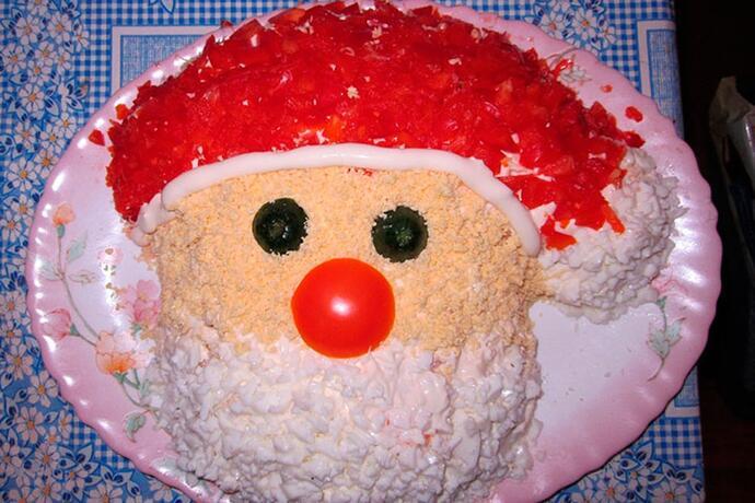 салат«Дед Мороз»