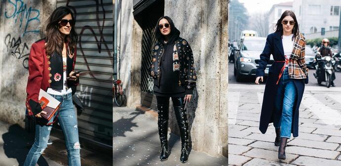 уличная мода осень-зима 2017-2018