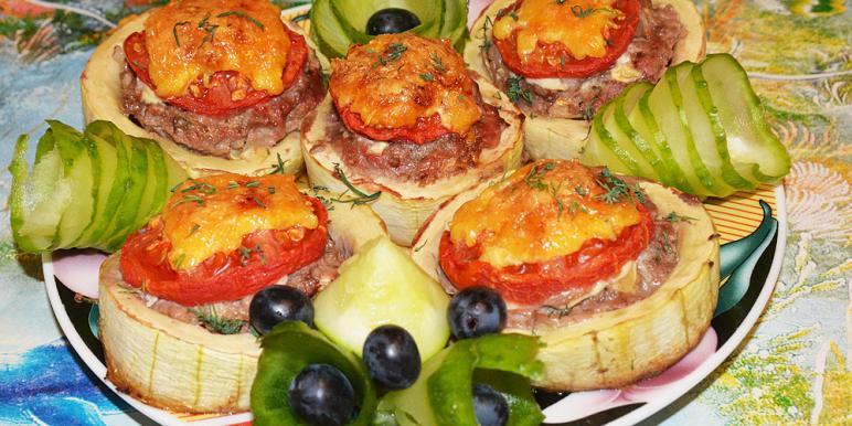 Картошка и кабачки в духовке рецепт с фото
