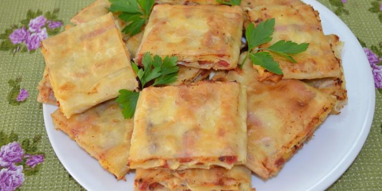 Рецепты блюд из лаваша с начинкой
