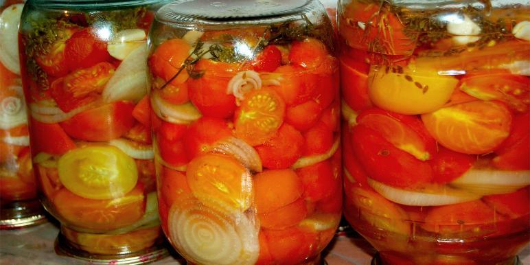 закрутки на зиму из помидор с фото