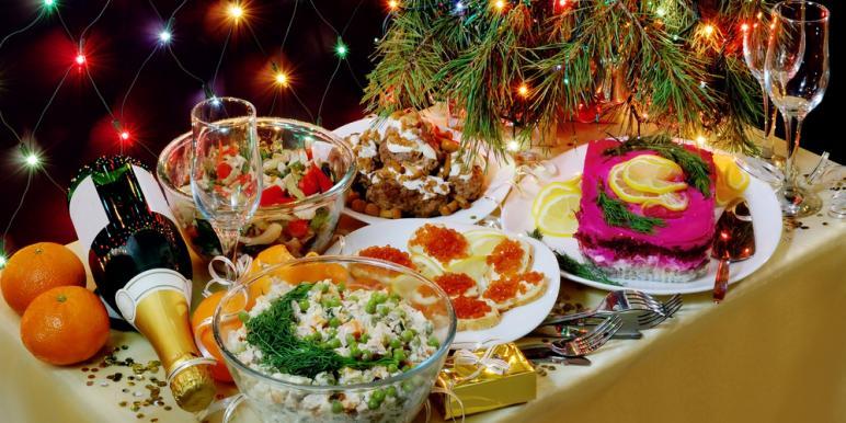 простые рецепты салатов без майонеза на праздничный стол